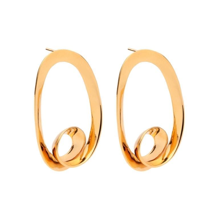 Amber Sceats Gold Plated Nelson Earrings